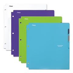 Quick-View Plastic Folder, 20 Sheets, 8 1/2 x 11, Assorted, Trend, 4/Set