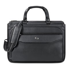 "Harrison Briefcase, 16.75"" x 7.75"" x 12"", Vinyl, Black"