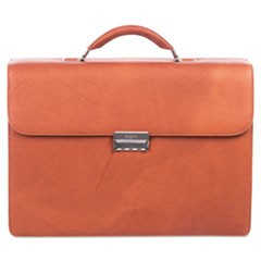 "Sartoria Medium Briefcase, 16.5"" x 5"" x 12"", Leather, Cognac"