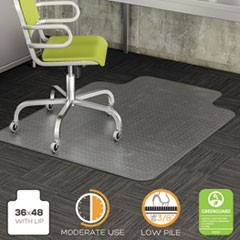 DuraMat Moderate Use Chair Mat, Low Pile Carpet, Roll, 36 x 48, Lipped, Clear