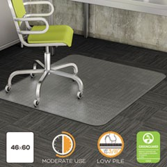 DuraMat Moderate Use Chair Mat, Low Pile Carpet, Roll, 46 x 60, Rectangle, Clear