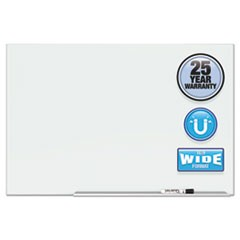 "1Element Framed Magnetic Glass Dry-Erase Boards, 50"" x 28"", Aluminum Frame"