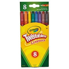 Twistable Crayons, 8 Traditional Colors/Set