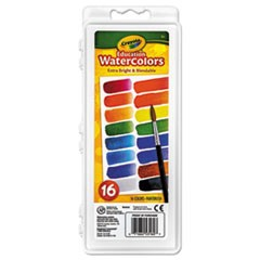Watercolors, 16 Assorted Colors