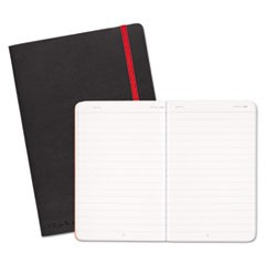Black Soft Cover Notebook, Wide/Legal Rule, Black Cover, 8.25 x 5.75, 71 Pages
