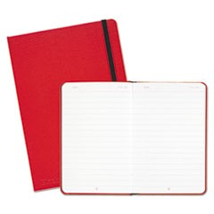 Red Casebound Hardcover Notebook, Wide/Legal Rule, Red Cover, 8.25 x 5.75, 71 Pages