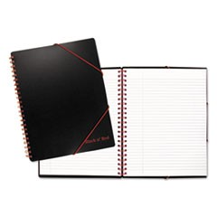 Black n� Red A4+ Filing Notebook, Wide/Legal Rule, Black, 11.68 x 8.25, 80 Pages