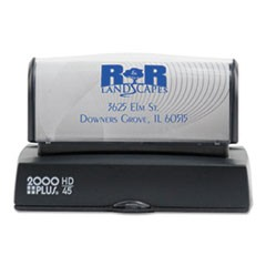 HD Custom Stamp, Pre-Inked, Black/Blue/Green/Gold/Orange/Red/Violet, 3 3/16 x 1
