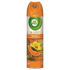 4 in 1 Aerosol Air Freshener,8oz Can, Hawaii Exotic Papaya/Hibiscus Flower,12/CT