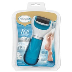Pedi Perfect Electronic Foot File, Blue/White