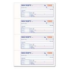 TOPS 3-Part Hardbound Receipt Book, 7 x 2 3/4, Carbonless, 200 Sets/Book