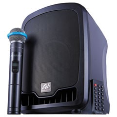 1Bluetooth Wireless Portable Media Player PA System, 36W, Black