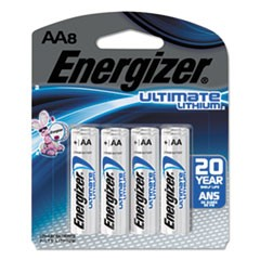 Ultimate Lithium Batteries, AA, 8/Pack