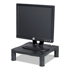 Adjustable Monitor Stand, 13-1/4 x 13-1/2 x 2 to 4, Black