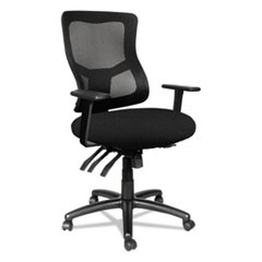 Alera Elusion II Series Mesh Mid-Back Multi-Function with Seat Slide Chair, Supports up to 275 lbs, Black Seat/Back/Base