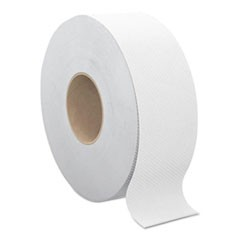 "Select Jumbo Bath Tissue, Septic Safe, 2-Ply, White, 3.3"" x 1000 ft, 12 Rolls/Carton"