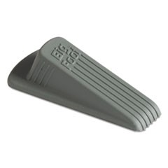 Big Foot Doorstop, No-Slip Rubber, 2 1/4w x 4 3/4d x 1 1/4h, Gray, 12/Pack