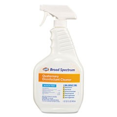 Broad Spectrum Quaternary Disinfectant Cleaner, 32 oz Spray Bottle, 9/Carton