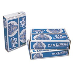 Linear Low Density Can Liners, 30 gal, 0.75 mil, 30 x 36, White, 200/Carton