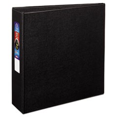 "Heavy-Duty Non-View Binder with DuraHinge and Locking One Touch EZD Rings, 3 Rings, 3"" Capacity, 11 x 8.5, Black"