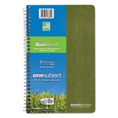 Environotes BioBased Notebook, 9 1/2 x 6, 80 Sheets, College Rule, Assorted