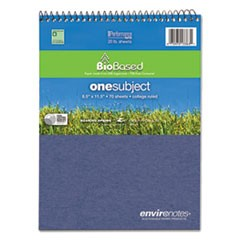 Environotes BioBased Notebook, 8 1/2 x 11 1/2, Flipper, 70 Sheets, College Rule