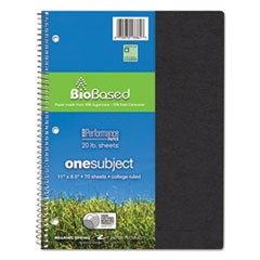 Environotes BioBased Notebook, 11 x 8 1/2, 70 Sheets, College Rule, Assorted