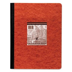 Section Sewn Lab Notebook, Quadrille, Red Cover, 11 3/4 x 9 1/4, 76 Shts/Pad