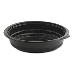 "MicroRaves Incredi-Bowl Base, 32 oz, 8.5"" dia x 1.92""h, Black, 150/Carton"