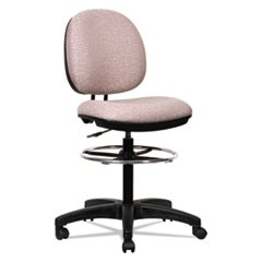Alera Interval Series Swivel Task Stool, 34.5