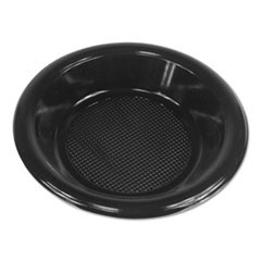 Hi-Impact Plastic Dinnerware, Bowl, 10-12 oz, Black, 1000/Carton