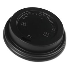 Hot Cup Lids, Fits 8 oz Hot Cups, Black, 1000/Carton