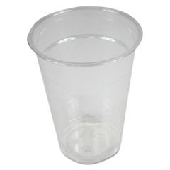 Clear Plastic Cold Cups, 9 oz, PET, 20 Cups/Sleeve, 50 Sleeves/Carton