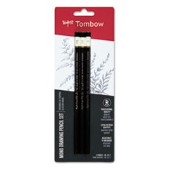 Drawing Pencil Set, 2B/B/HB, 2 mm, Black Lead, 3/Set