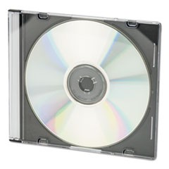 CD/DVD Slim Jewel Cases, Clear/Black, 50/Pack