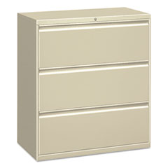 Three-Drawer Lateral File Cabinet, 30w x 18d x 39 1/8h, Putty