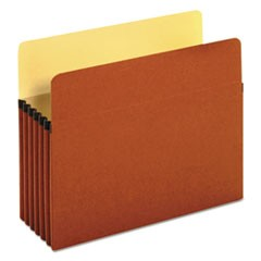 "Redrope Expanding File Pockets, 5.25"" Expansion, Letter Size, Redrope, 10/Box"