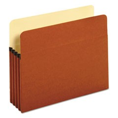 "Redrope Expanding File Pockets, 3.5"" Expansion, Letter Size, Redrope, 25/Box"