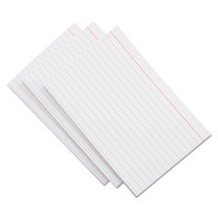 Ruled Index Cards, 5 x 8, White, 500/Pack