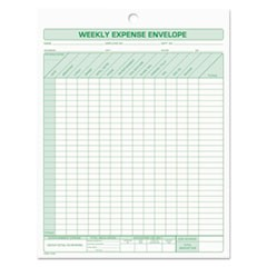 1Weekly Expense Envelope, 8 1/2 x 11, 20 Forms