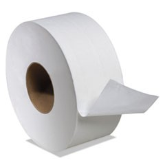 "1Boardwalk Green Jumbo Bathroom Tissue, Septic Safe, 2-Ply, White, 3.55"" x 1000 ft, 12/Carton"