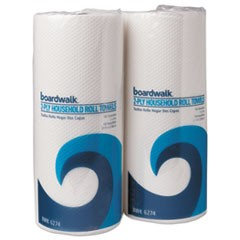 Household Perforated Paper Towel Rolls, 2-Ply, 9 x 11, White, 100/Roll, 30 Rolls/Carton