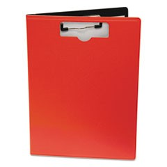 "Portfolio Clipboard With Low-Profile Clip, 1/2"" Capacity, 8 1/2 x 11, Red"