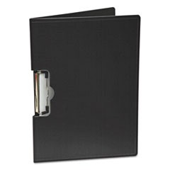 "Portfolio Clipboard With Low-Profile Clip, 1/2"" Capacity, 11 x 8 1/2, Black"