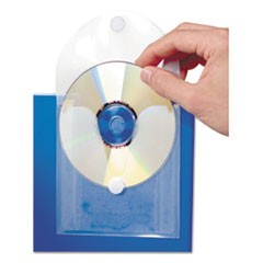 1CD Pocket, Clear/White, 5/Pack