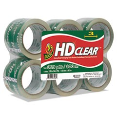 "Heavy-Duty Carton Packaging Tape, 3"" x 55yds, Clear, 6/Pack"