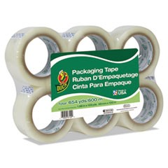 "Commercial Grade Packaging Tape, 2"" x 2, 1.88"" x 109 yds, Clear, 3"" Core, 6/Pack"