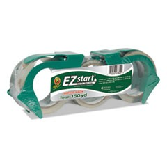 EZ Start Premium Packaging Tape, 2 60yd Rolls, Bonus 30yd Roll, Clear, 3/Pack