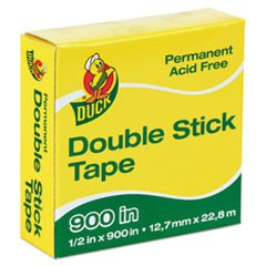 "Permanent Double-Stick Tape, 1"" Core, 0.5"" x 75 ft, Clear"