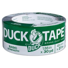 "Basic Strength Duct Tape, 5.5mil, 1.88"" x 30yd, 3"" Core, Silver"